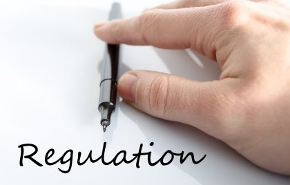 Regulation text concept isolated over white background